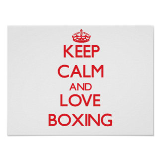 Keep calm and love Boxing Print