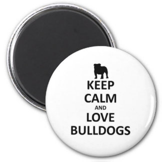 Keep calm and love bulldogs magnet
