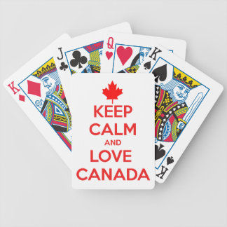 KEEP CALM AND LOVE CANADA BICYCLE PLAYING CARDS