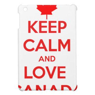 KEEP CALM AND LOVE CANADA iPad MINI COVERS