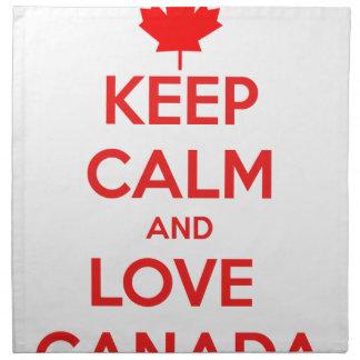 KEEP CALM AND LOVE CANADA NAPKIN