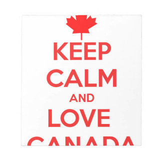 KEEP CALM AND LOVE CANADA NOTEPAD