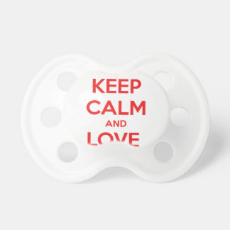 KEEP CALM AND LOVE CANADA PACIFIER