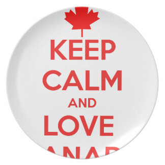 KEEP CALM AND LOVE CANADA PLATE