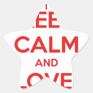 KEEP CALM AND LOVE CANADA STAR STICKER