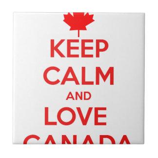 KEEP CALM AND LOVE CANADA TILE