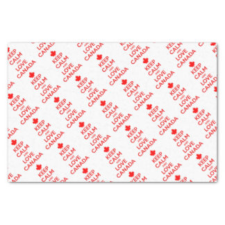 KEEP CALM AND LOVE CANADA TISSUE PAPER