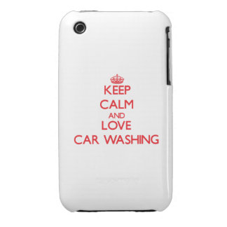 Keep calm and love Car Washing iPhone 3 Cases