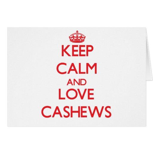Keep calm and love Cashews Card