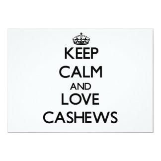 Keep calm and love Cashews Custom Invite