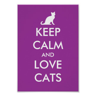 Keep calm and love cats poster parody