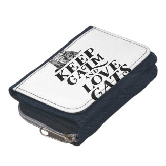 Keep calm and love cats wallet