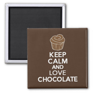 Keep Calm and Love Chocolate magnet