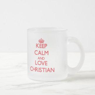 Keep Calm and Love Christian Mugs
