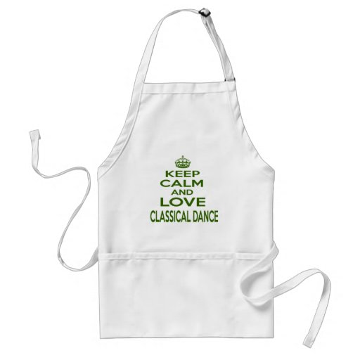 Keep Calm And Love Classical Dance Aprons
