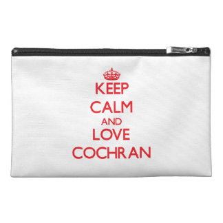 Keep calm and love Cochran Travel Accessories Bags