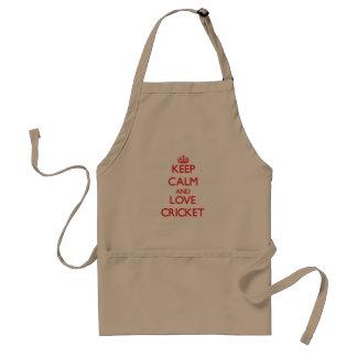 Keep calm and love Cricket Standard Apron