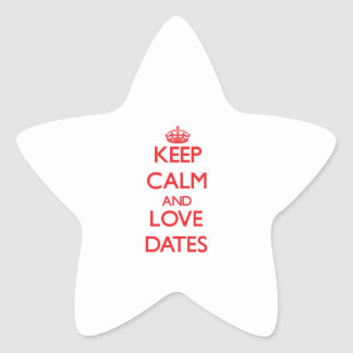 Keep calm and love Dates Star Stickers