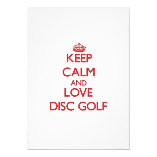 Keep calm and love Disc Golf Custom Invitation