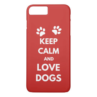 Keep calm and love dogs Case-Mate iPhone case