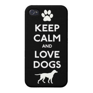 Keep calm and love Dogs Cover For iPhone 4