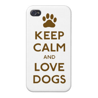 Keep calm and love Dogs iPhone 4 Cover