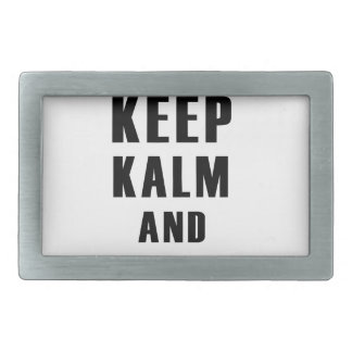 keep calm and love flower rectangular belt buckle
