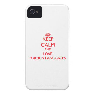 Keep calm and love Foreign Languages iPhone 4 Case-Mate Cases