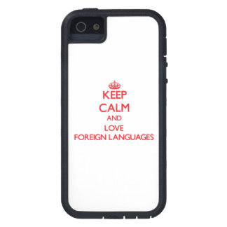 Keep calm and love Foreign Languages iPhone 5 Case