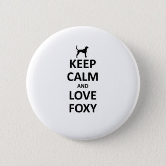 Keep calm and love foxy 2 inch round button