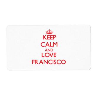 Keep Calm and Love Francisco Shipping Label
