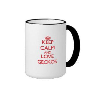 Keep calm and love Geckos Coffee Mug