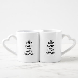 Keep calm and Love Geckos Couple Mugs