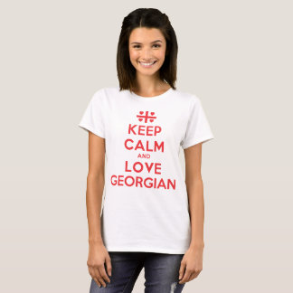 Keep Calm And Love Georgian T-Shirt