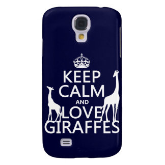 Keep Calm and Love Giraffes - all colours