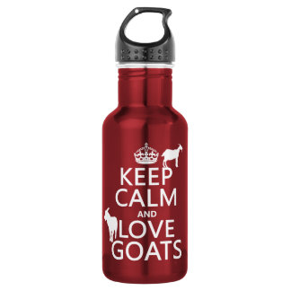 Keep Calm and Love Goats 532 Ml Water Bottle