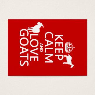 Keep Calm and Love Goats Business Card