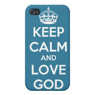 Keep calm and love god iphone 4/4s case