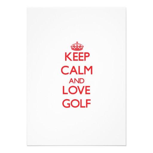 Keep calm and love Golf Custom Invite
