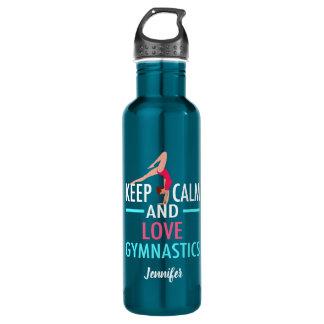 Keep Calm and Love Gymnastics 710 Ml Water Bottle