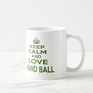 Keep Calm And Love Hand Ball Coffee Mug