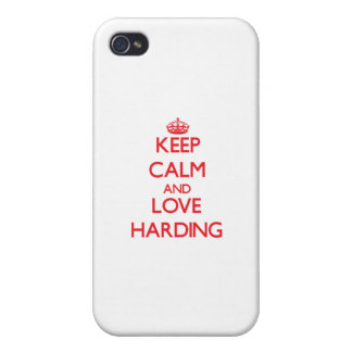 Keep calm and love Harding iPhone 4 Cover