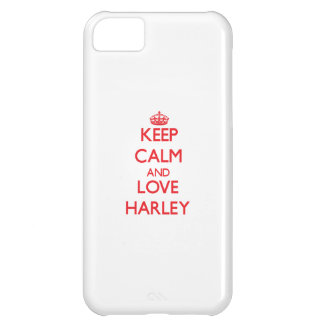 Keep Calm and Love Harley iPhone 5C Cases