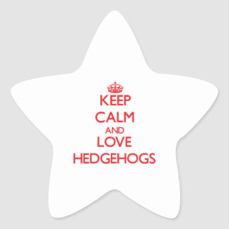 Keep calm and love Hedgehogs Sticker