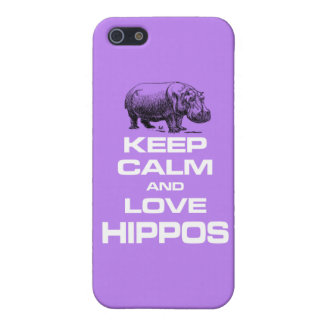 Keep Calm and Love Hippos Hippotamus Fun Design iPhone 5 Cover