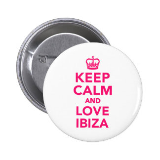 Keep calm and love Ibiza 2 Inch Round Button