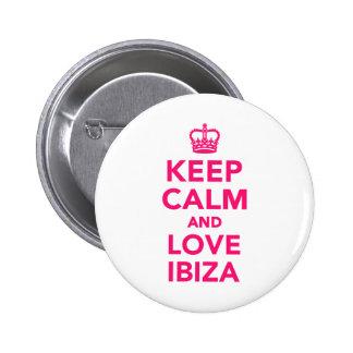 Keep calm and love Ibiza 2 Inch Round Button