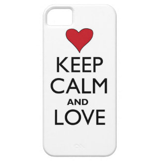 Keep Calm and Love iPhone 5 Case