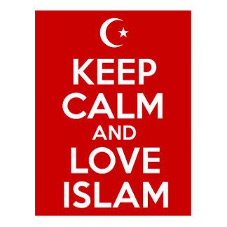 Keep Calm and Love Islam Postcard