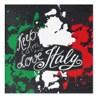 Keep Calm and Love Italy Acrylic Wall Art